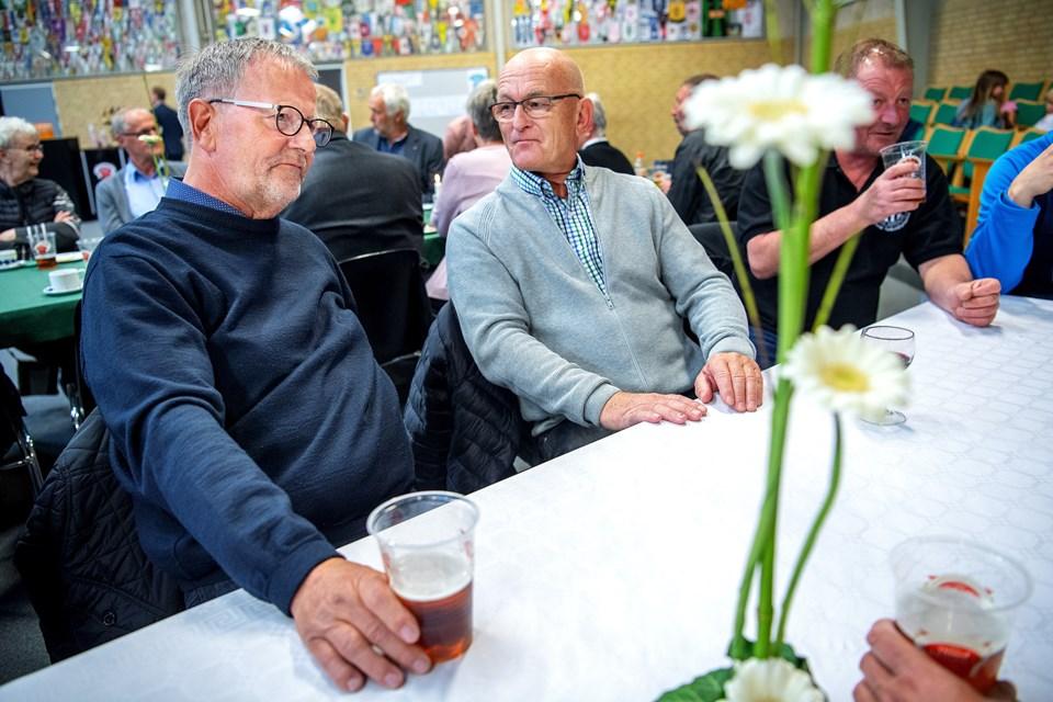 To tidligere trænere. Til venstre Niels Jørgen Nielsen og Leif Dyhrberg, der havde turen fra hjemmet i Malaga til Nørhalne. Foto: Lars Pauli © Lars Pauli
