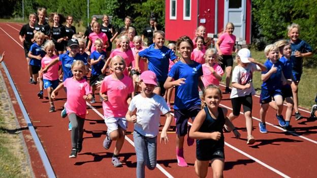 Atletikskolen i Sæby Foto: Gunnar Møller Nielsen Gunnar Møller Nielsen