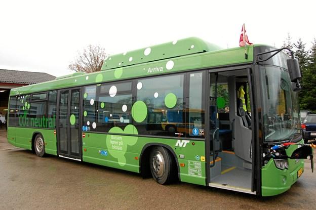 De busruter, Nordjyllands Trafikselskab vil sende i udbud i år, stilles der krav om, at busserne skal køre på biogas. PR-foto