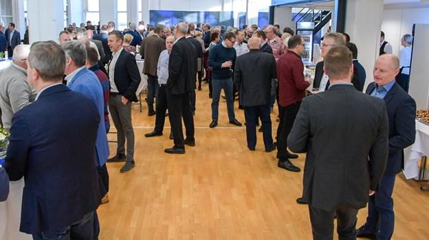 Det store lokale, Magasinet, på førstesal blev brugt til receptionen med de mange gæster. Foto: Kim Dahl Hansen Foto: Kim Dahl Hansen