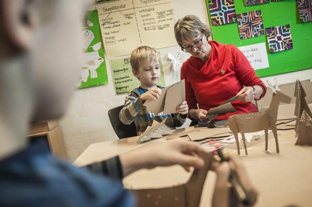Der er arbejdende værksteder på friskolen. Arkivfoto: Martin Damgård