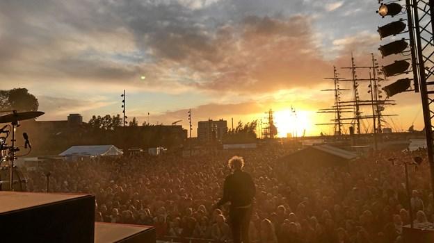 Der var godt fyldt op, da Phlake gav koncert onsdag aften - i aften ventes der endnu flere. Foto: Katrine Brix