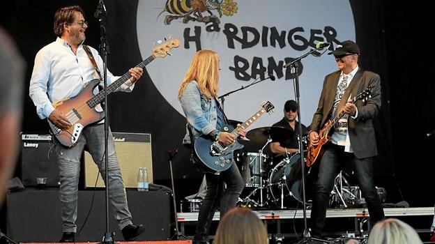 Hardinger Band er klar på Torvet i Blokhus på torsdag. Arkivfoto: Allan Mortensen