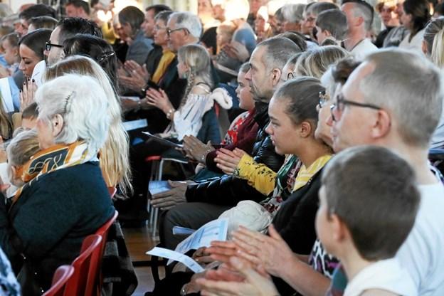 Omkring 150 tilhørere var på plads i borgerhuset. Foto: Allan Mortensen Allan Mortensen