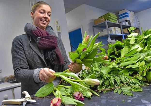 Belinda Hingeberg er uddannet blomsterdekoratør. Foto: Ole Iversen Ole Iversen