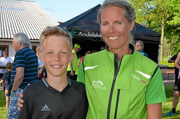 Mathias Graversen deltog i løbet - sammen med sin mor Kristine - og vandt 10,6 kilometer ruten i sin klasse. Foto: Jesper Bøss