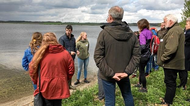 Lise Murmann og Christian Frigaard fortalte om deres landbrug omkring Glenstrup Sø og deres ønsker til jordfordelingsprojektet.