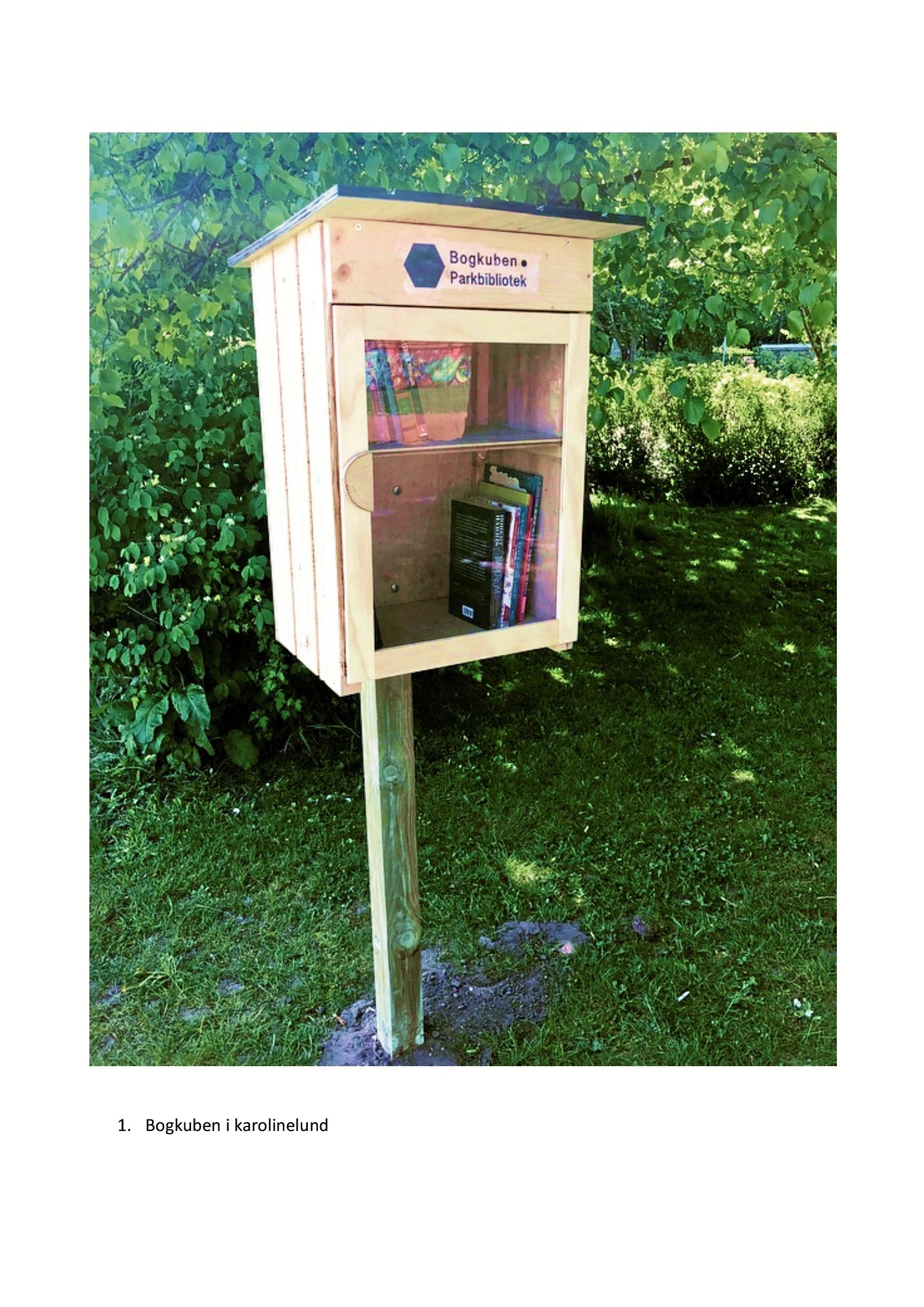 Her i denne kasse kan du låne eller bytte  bøger.  Privatfoto