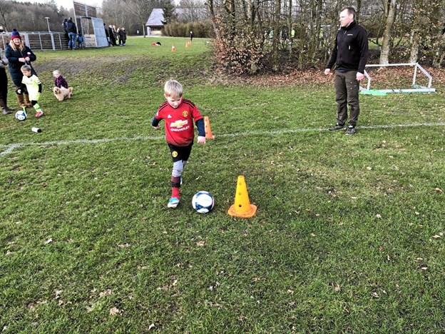 En Manchester United-fan viser, hvad han kan... Foto: Privat Privat