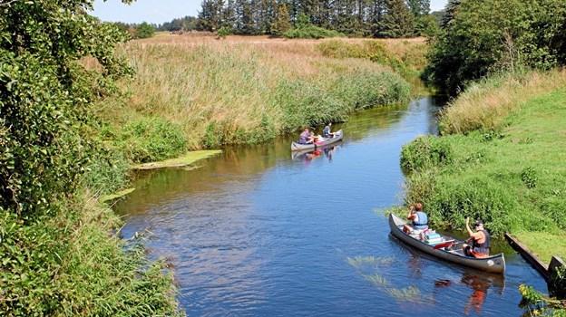 I fredags var tre generationer på deres årlige kanotur mellem Mosbjerg og Bindslev. Foto: Niels Helver