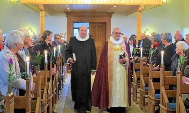Thomas Reinholdt Rasmussen og Henning Toft Bro og bagved (skjult) Lise Nedergaard og Anna Margrethe Saxild. Foto: Kirsten Olsen