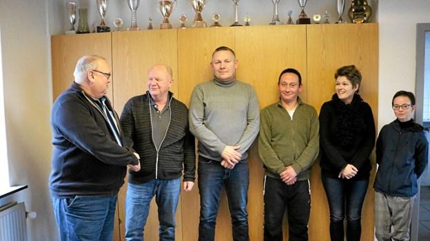 Formand Ib Thomsen byder den nye træner Mogens Sørensen velkommen og ser frem til et godt samarbejde.