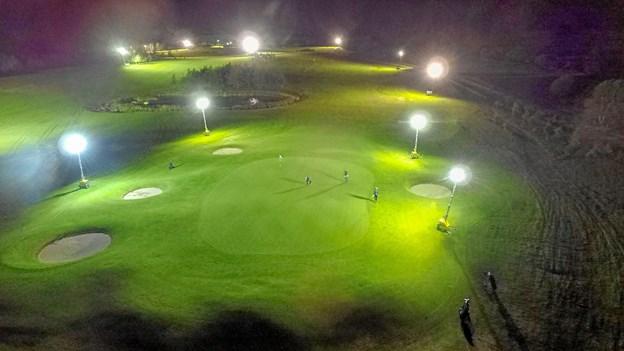 Natgolf-turneringen i Volstrup var en helt speciel golfoplevelse for de deltagende golfspillere. Privatfoto