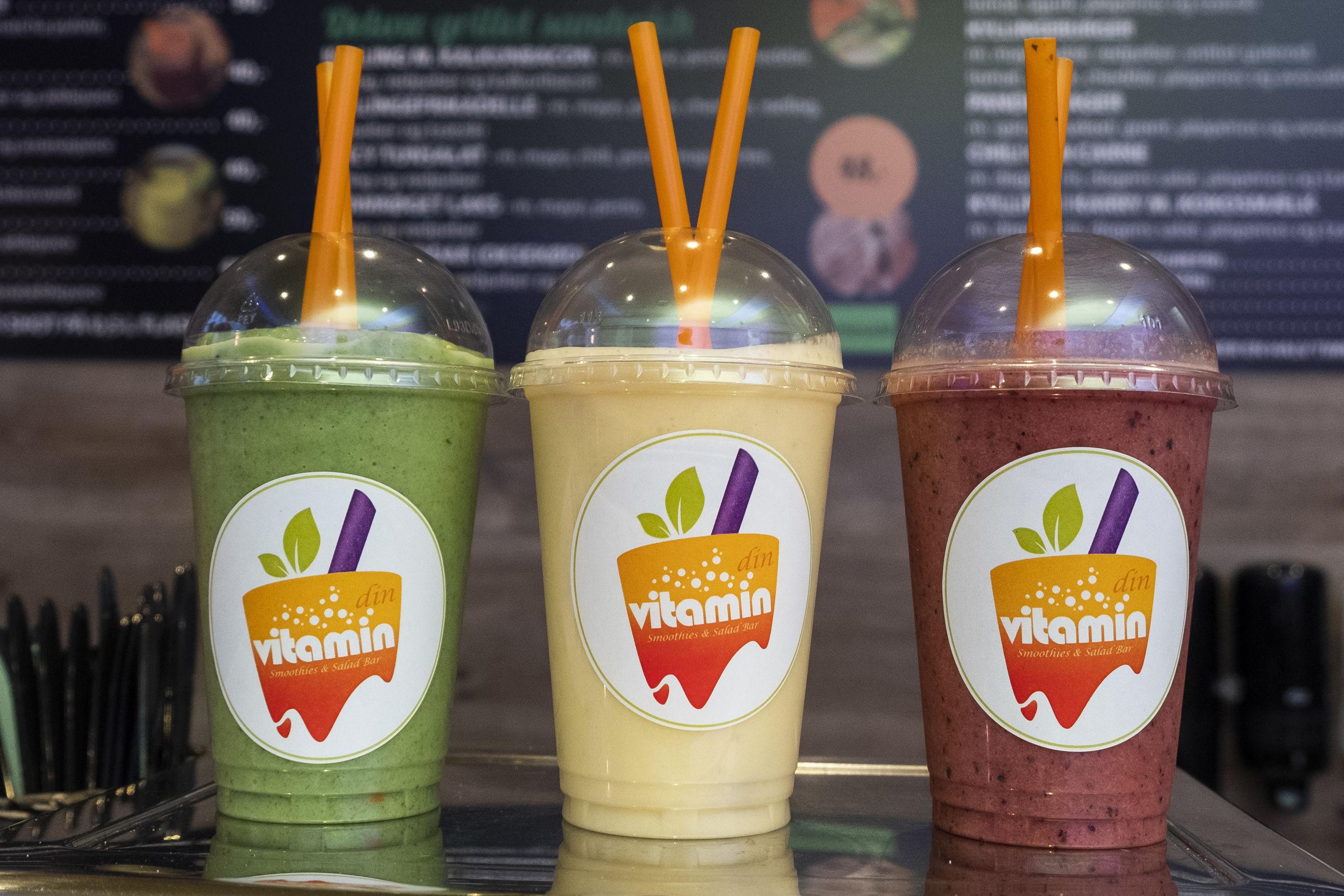 Er man ikke til juice, kan man også kaste sig over en smoothie. Foto: Lasse Sand