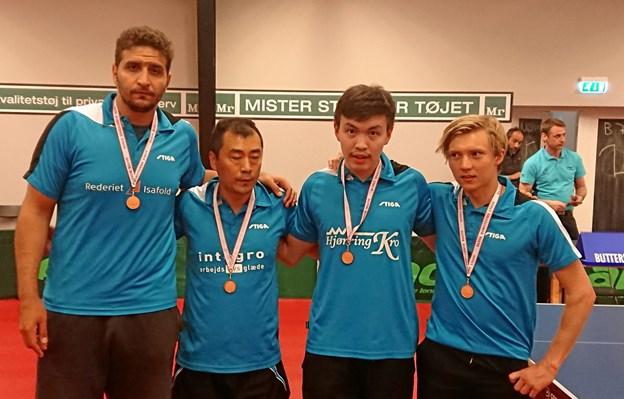 Det er første gang i klubbens historie, at man vinder medalje i hold-DM.Foto: B75