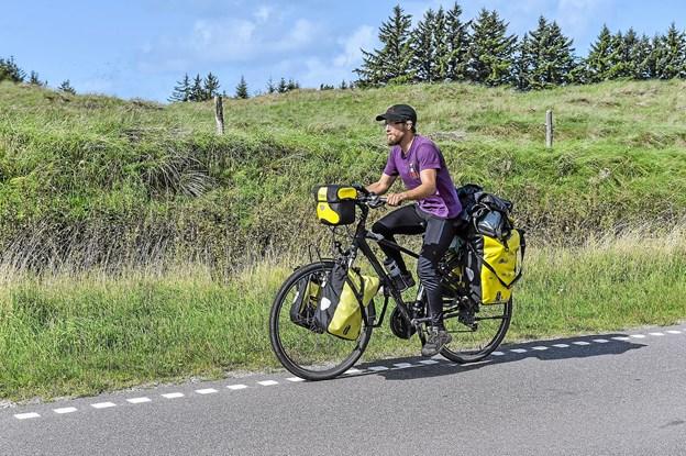 Vil man arbejde med oplevelsespædagogik, så må man prøve det selv, er tyskerens indgang til den lange cykeltur. Foto: Ole Iversen