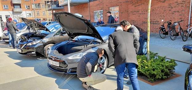 Man kunne også få svar på alle sine spørgsmål om, hvordan det i virkeligheden er at have en elbil. Privatfoto