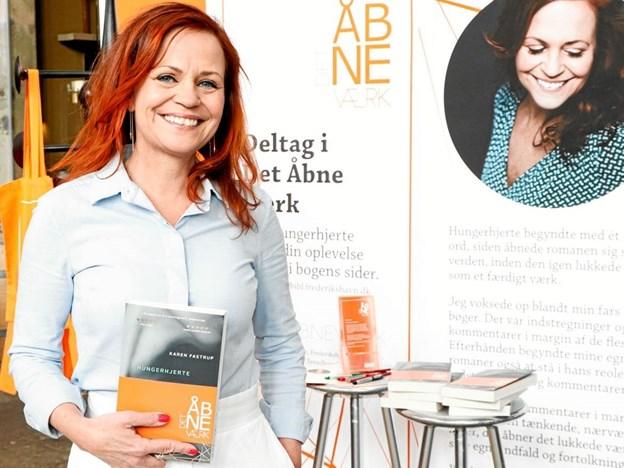 Nu må du skrive kommentarer i Karen Fastrups roman Hungerhjerte Foto: Frederikshavn Bibliotek