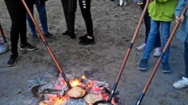 """På Bjørneborg på Mors er 80 børn fra 1. - 6. klasse på lejr med temaet """"Du er som du er, og det er godt nok"""". Privatfoto"""