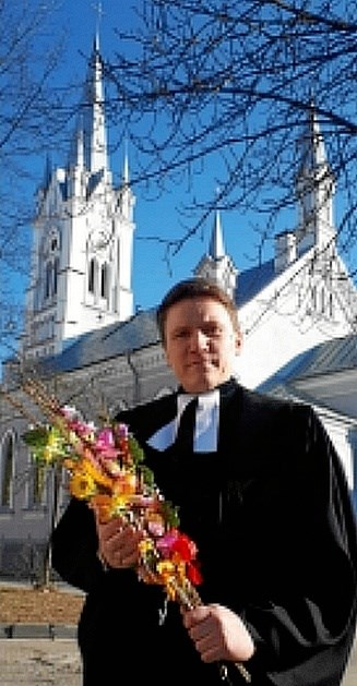 Den hviderussiske præst Vladimir, der søndag 20. januar besøger Skelund kirke. Privatfoto
