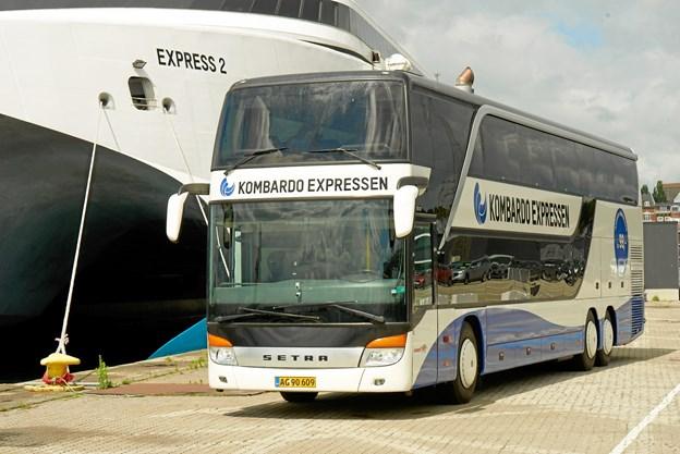 17. maj kørte Kombardo Expressen den første tur fra Alborg til København. Nu bliver der afgange hver dag. Privatfoto