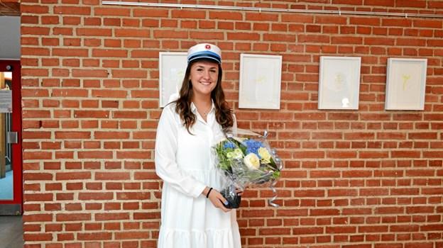 Laura Nørgaard er årets første HF-student i Brønderslev.Privatfoto