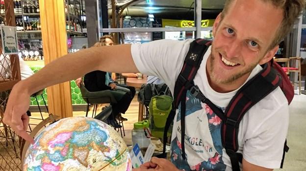 Morten og Mette er rejst om på den anden side af jordkloden. Privatfoto