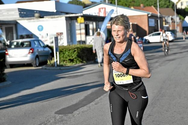 Jane Guldbæk sluttede som 2. hurtigste på kvindernes 6. km. rute. Foto: Ole Iversen