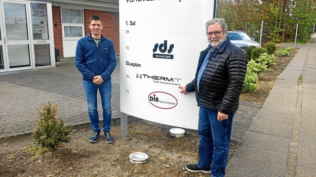 Steffen Lindgren Hansen og Ivan Lindgren Hansen ved ThermIT's nye adresse i Hjørring.