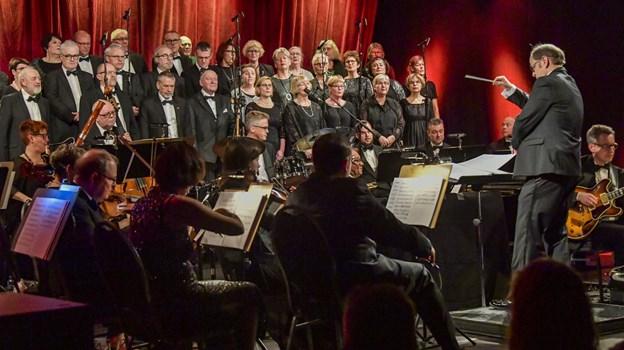 Stemningen var høj til nytårskoncerten. Foto: Kim Dahl Hansen