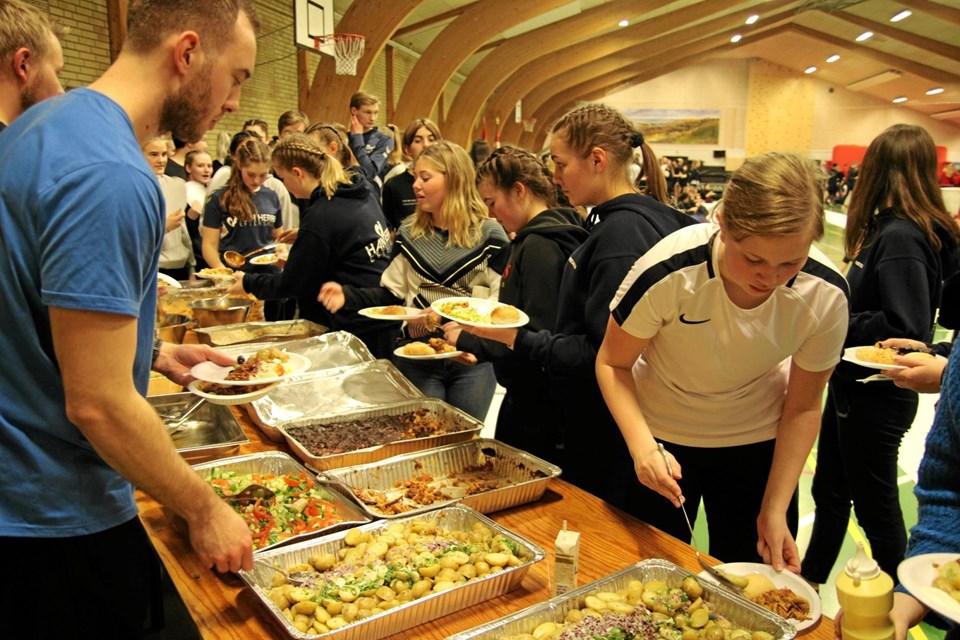 Over 600 personer skulle have mad. Flemming Dahl Jensen
