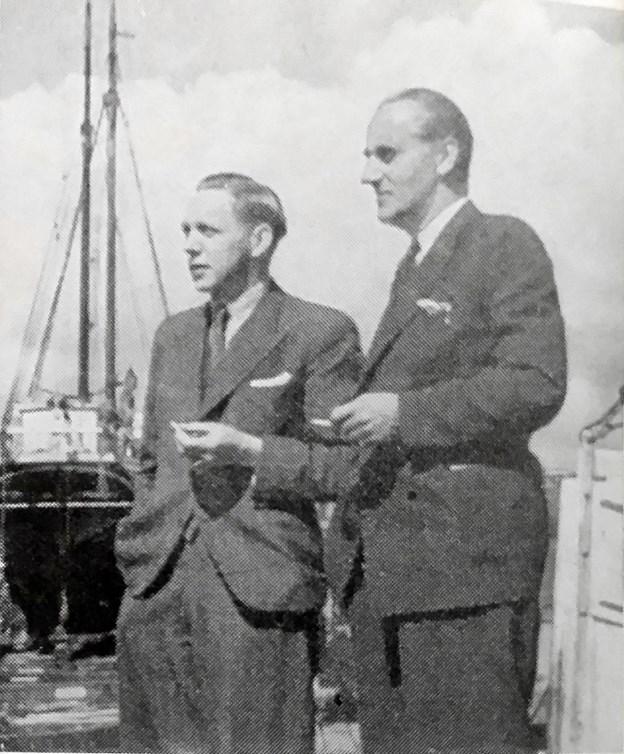 To ledende personer fra Frederikshavn, Frimodt Sørensen og Gylding Sabroe. Foto: Nordjyllands Kystmuseum