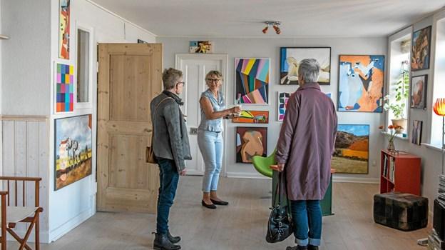 """""""Fjordlyset"""" havde udstillingen Pii, som var en udstilling, hvor tre kunstnere var gået sammen. Foto: Mogens Lynge"""