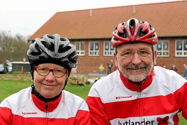 """Else Ramsgaard og Sverre Wognsen fik med en 11. plads den bedste placering af de mange deltagende par fra Motionscykelklubben Himmerland i Gistrup i det andet løb i den igangværende """"MTBO Vintercup 2018-19"""". Privatfoto"""