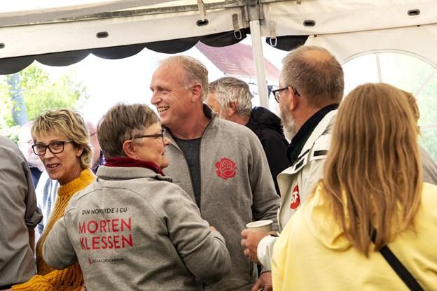 Der var varm velkomst til Morten Klessen. Foto: Laura Guldhammer Foto:  Laura Guldhammer