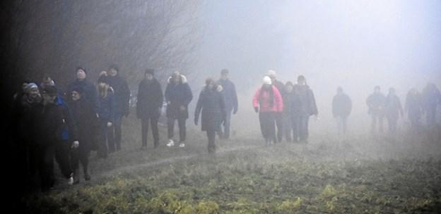 Efter små to timer dukkede hele flokken ud af tågen igen. Privatfoto
