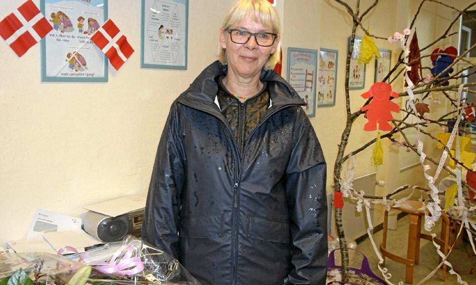 Der var naturligvis masser af gaver og hyldest, da Anita Pejstrup fejrede 40-års jubilæum i Dronninglund Børnehave. Foto: Jørgen Ingvardsen