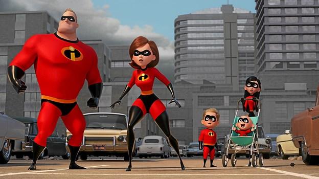 Familien Parr tager kampen op mod den nye skurke i animationsfilmen De Utrolige 2. Foto: Hans Jørgen Callesen