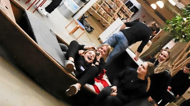 Der var også plads til grin og sjov. Foto: Frederikshavn Bibliotek/Sisse Sisse