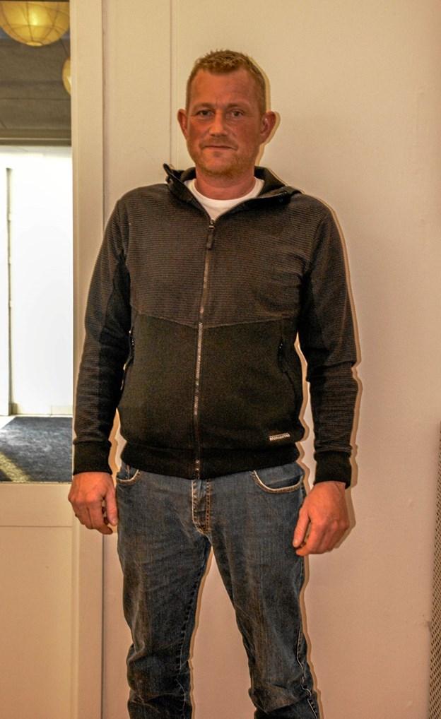 Tidligere Robinson deltager, Jakob Davidsen fra Overlade fortalte om sin deltagelse og de oplevelser, han kunne tage med hjem. Foto: Mogens Lynge Mogens Lynge