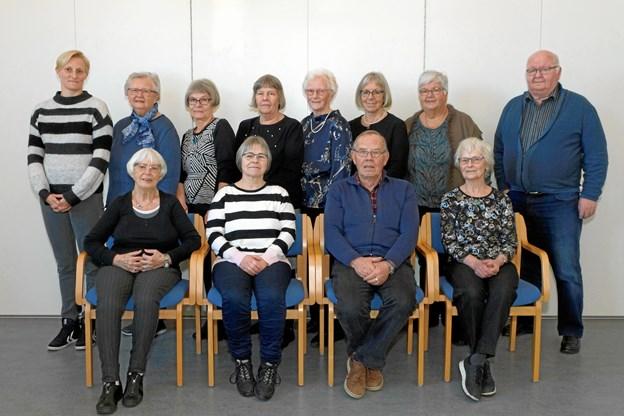 Den nye bestyrelse i Ældresagen Dronninglund.Privatfoto