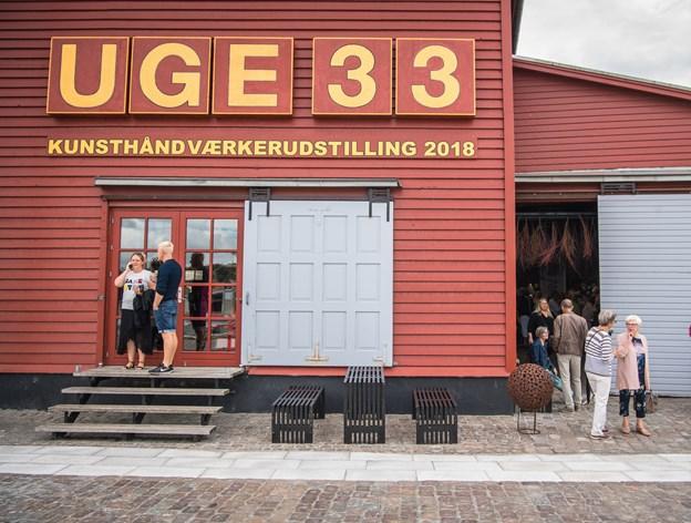 Uge 33-udstillingen kan ikke længere låne Det Røde Pakhus i Hobro helt gratis. Arkivfoto: Martin Damgård