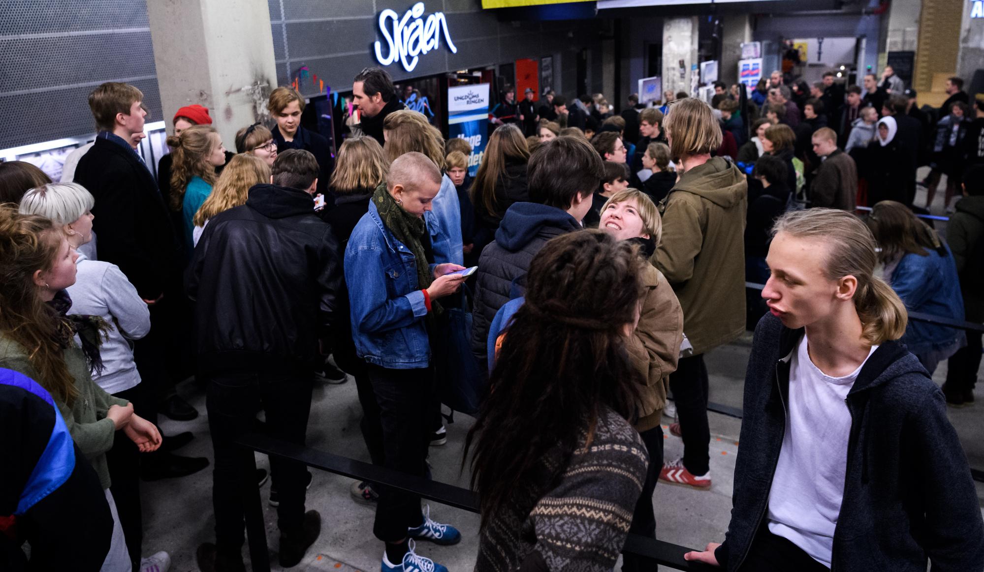 Mange unge bliver tiltrukket af, at de kan stå på de samme scene, som nogle af deres idoler, vurderer arrangørerne. Arkivfoto: Nicolas Cho Meier