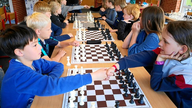 Foreningsfestivalen bød også på mere stillesiddende aktiviteter som skak. Privatfoto
