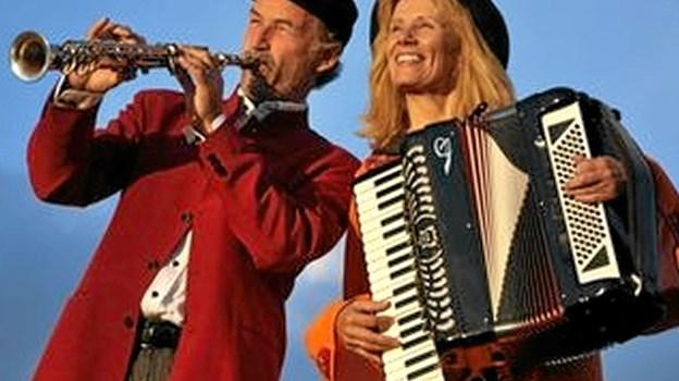 """Den populære """"Klezmerduo"""" giver koncert i Dokkedal kirke fredag den 16. august klokken 19.30.?Privatfoto"""