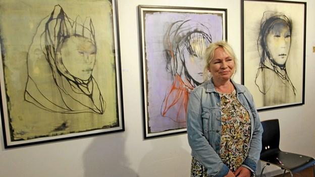 Linda Horn er repræsenteret med en række portrætter på den store portrætudstilling. Foto: Jørgen Ingvardsen Jørgen Ingvardsen