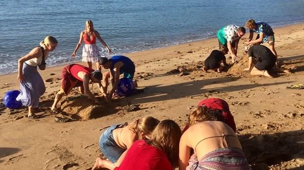 Sandslotskonkurrence på Magnetic Island i Australien. Privatfoto