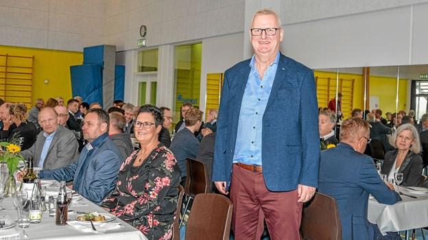 25 års jubilaren Benny Hansen fejrer 25 års jubilæum hos Nordjysk Andel i Lanternen Løgstør. Foto: Mogens Lynge