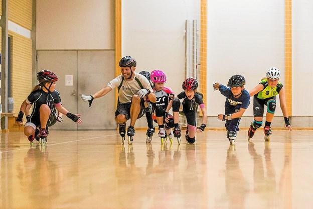 Hygge, grin og motion. Foto: Privat