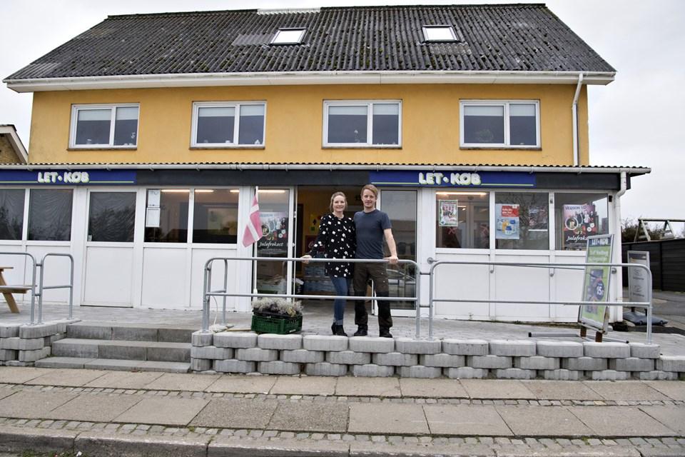 Hos købmanden i Serritslev kan man nu også hente pakker fra Post Nord.Arkivfoto: Henrik Louis